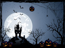 lätt redigera den halloween bildnatten till vektorn Arkivbilder