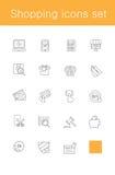 lätt redigera set shopping för symbolen till vektorn Arkivfoto