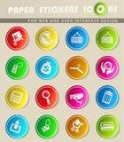 lätt redigera set shopping för symbolen till vektorn Fotografering för Bildbyråer