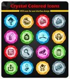 lätt redigera set shopping för symbolen till vektorn Royaltyfria Bilder