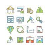 lätt redigera seten för finanssymbolsbilden till vektorn Royaltyfri Bild