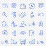 lätt redigera seten för finanssymbolsbilden till vektorn 25 vektorsymboler packar arkivbilder