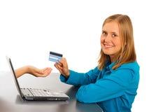 Lätt shopping på internet Royaltyfri Bild