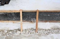 Lätt träformwork för fundamentkonstruktion royaltyfri fotografi