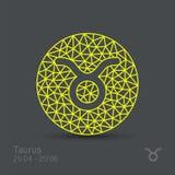 lätta goda logoer ändrar taurusen för tatueringar för formskjortatecken den enkla t till zodiac royaltyfri illustrationer
