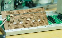 Lätta LEDDE strömkretsar Arkivfoto