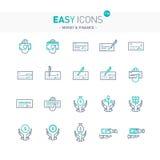 Lätta pengar för symboler 13e stock illustrationer