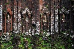 Lättnad av hinduiska tempel på min Son, Vietnam Royaltyfri Bild