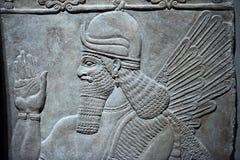 Lättnad för forntida babylonia- och Assyrien bas arkivfoto