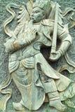 lättnad för qiong för qin för dörrgud hög royaltyfri bild