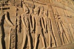 Lättnad i tempel av Kom Ombo arkivbild