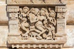 Lättnad på Harshat Mata Temple, Abhaneri, Rajasthan fotografering för bildbyråer