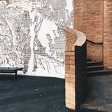 Lättnad på väggen Arkivfoton