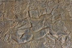 Lättnader av den Angkor vaten på den arkeologiska Angkor parkerar arkivfoto