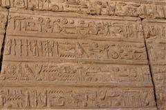 Lättnader av egyptiska hieroglyf royaltyfri fotografi