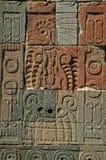 Lättnader av Teotihuacan, Mexico Arkivfoto
