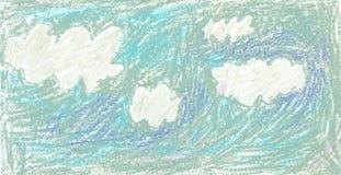 Lättrogen himmel med moln Royaltyfri Bild