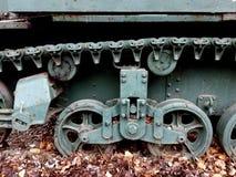 Lättvikts- behållare från II världskrig i detalj Arkivfoton