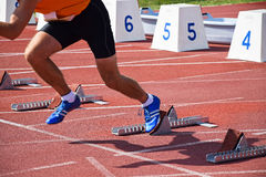 Läufer auf der Laufbahn Lizenzfreies Stockbild