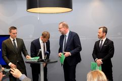 LÄUFER DÄNEMARKS FROTN FÜR GRÜNE ENERGIE stockfotografie
