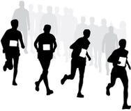 Läufer mit Zuschauern Lizenzfreies Stockbild