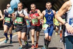 Läufer am Rom-Marathon im Jahre 2016 Stockfoto