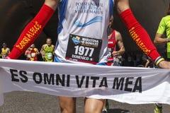 Läufer am Rom-Marathon im Jahre 2016 Lizenzfreie Stockbilder
