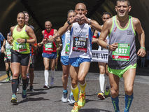 Läufer am Rom-Marathon im Jahre 2016 Lizenzfreies Stockfoto