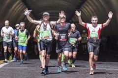 Läufer am Rom-Marathon im Jahre 2016 Lizenzfreies Stockbild