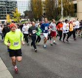 Läufer am Trommelstock-Schlag, Roanoke, Virginia, USA stockfoto
