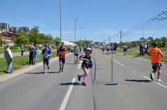 Läufer während des Marathonlaufs lizenzfreies stockbild