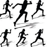 Läuferfrauenvektor Lizenzfreies Stockfoto