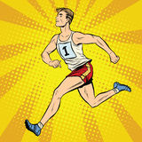 Läufersommer-Spielleichtathletik des Läufers männliche Stockfotos