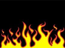 Låda för brandflammastil Arkivbilder