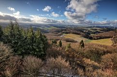 Låg bergskedja Eifel royaltyfria foton