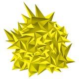 låg geometribakgrund för polygon 3D Abstrakt polygonal geometrisk form Lowpoly minsta stilkonst trianglar också vektor för coreld Royaltyfria Bilder