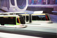 låg-golv LRV spårvagnmodell 100% Arkivbilder