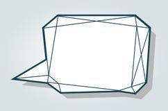 Låg mall för mellanrum för bubbla för ballong för samtal för anförande för polygonvektorblått royaltyfri illustrationer