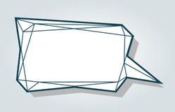 Låg mall för mellanrum för bubbla för ballong för samtal för polygonvektoranförande vektor illustrationer