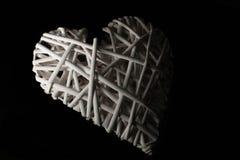 Låg nyckel- vit hjärta Arkivbilder