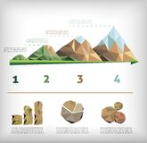 Låg polly stil för ekologi stock illustrationer
