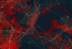 Låg poly bakgrund för abstrakt polygonal utrymme Arkivfoto