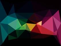 Låg poly bakgrund för vektor Abstrakt mörk diamant Royaltyfri Foto