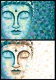 Låg Poly Buddha Arkivbild