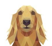 Låg Poly geometrisk hunddesign Royaltyfri Foto