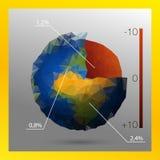 Låg poly jordkärna Vektor Illustrationer