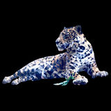 Låg poly leopard Arkivbilder