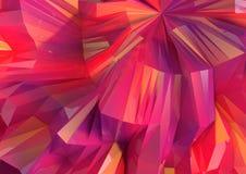 Låg Poly mång- kulör reflekterande bakgrund vektor illustrationer