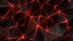 Låg-Poly mörk bakgrund vektor illustrationer