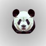 Låg poly panda Arkivfoton